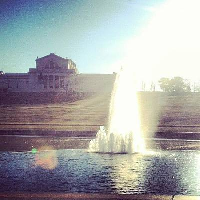 Skylines Photograph - Fountain Grand Basin St Louis Art Museum by Genevieve Esson