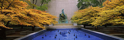 Changing Of The Seasons Photograph - Fountain In A Garden, Fountain Of The by Panoramic Images