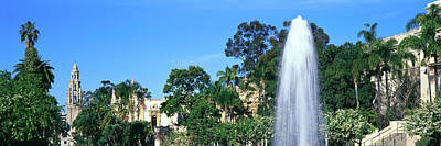 Fountain In A Park, Balboa Park, San Art Print