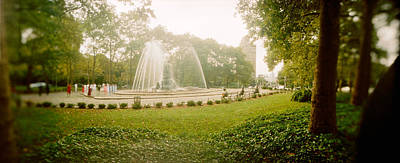 Fountain In A Park, Prospect Park Art Print by Panoramic Images