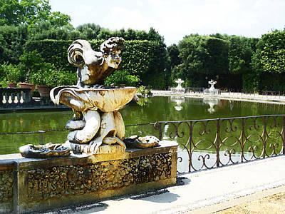 Fountain In Boboli Gardens Florence Italy Art Print by Irina Sztukowski