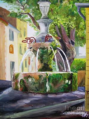 Fountain In Provence Original