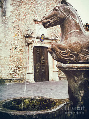 Photograph - Fountain In Taormina Sicily by Silvia Ganora