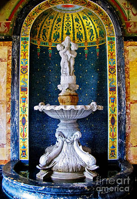 Photograph - Fountain In The Conservatory by Colleen Kammerer