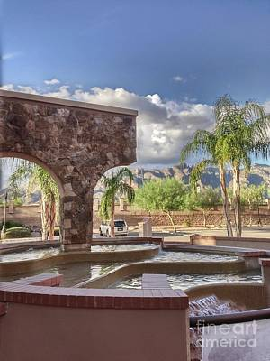 Tucson Photograph - Fountain In The Foothills by Rincon Road Photography By Ben Petersen