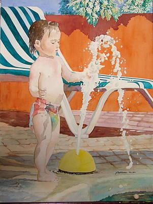 Fountain Art Print by Jelly Starnes