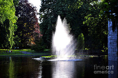 Fountain Art Print by Maja Sokolowska
