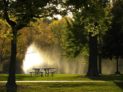 Art Print featuring the photograph Fountain Mist by Teresa Schomig