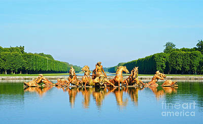 Fountain Of Apollo At Versailles Art Print by Alex Cassels