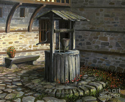 Historic Home Painting - Fountain Of Life by Kiril Stanchev