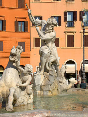 Photograph - Fountain Of Neptune by Caroline Stella