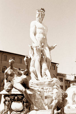 Fountain Of Neptune Florence Art Print by Tom Wurl