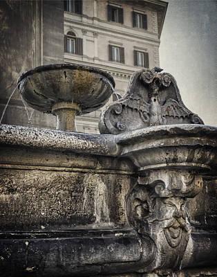 Fountain Of Santa Maria Maggiore Art Print