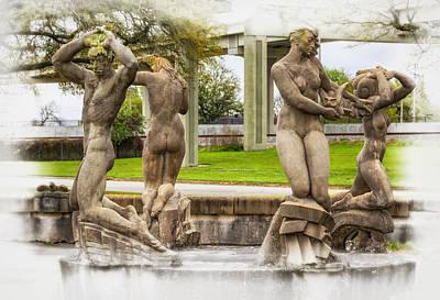 Fountain Of The Four Winds Art Print by Steve Harrington