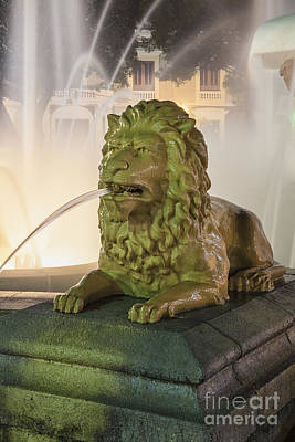 Photograph - Fountain Of The Lions At Plaza Las Delicias In Puerto Rico by Bryan Mullennix