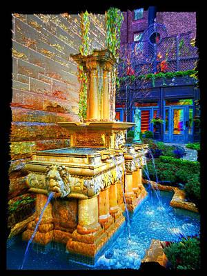 Digital Art - Fountain On Erie by Zac AlleyWalker Lowing
