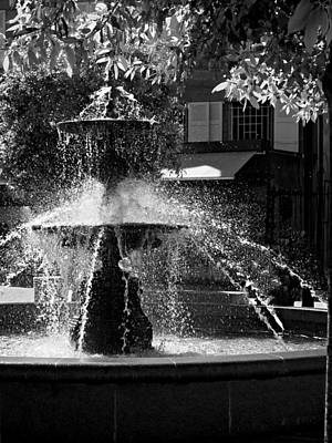 Art Print featuring the photograph Fountain On Place Toulzac / Brive La Gaillarde by Barry O Carroll