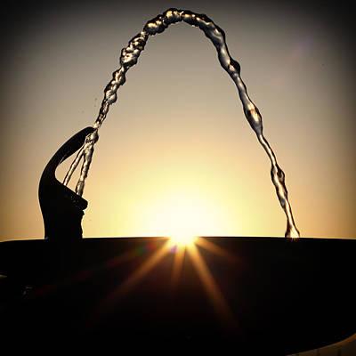 Fountain Over The Sun Art Print by Rscpics