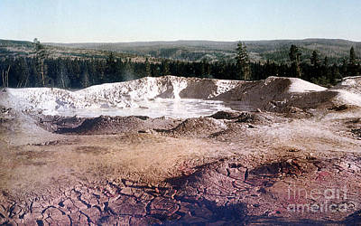 Photograph - Fountain Paint Pot Yellowstone National Park by NPS Photo Detroit Photographic Co
