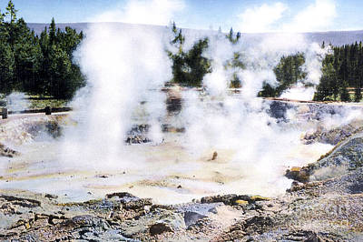 Mudpot Photograph - Fountain Paint Pot Yellowstone Np by NPS Photo Frank J Haynes