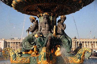 Fountain Place De La Concorde Art Print by Jacqueline M Lewis