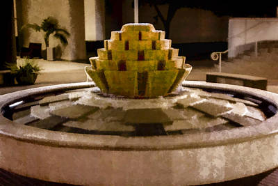Digital Art - Fountain by Photographic Art by Russel Ray Photos