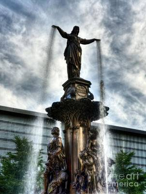 Photograph - Fountain Square In Cincinnati by Mel Steinhauer
