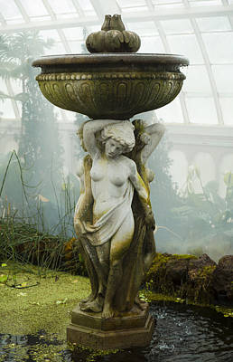 Life Size Photograph - Fountain Statue by Garry Gay