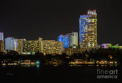 Fontain Photograph - Fountainebleau Hotel Bayview Miami Beach Florida by Rene Triay Photography