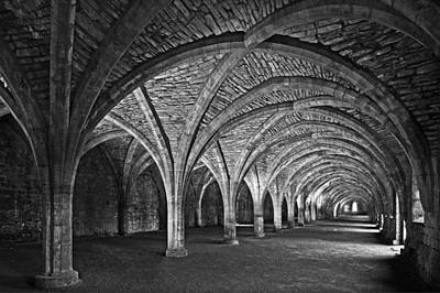 Fountains Abbey Cloister Art Print by John Topman