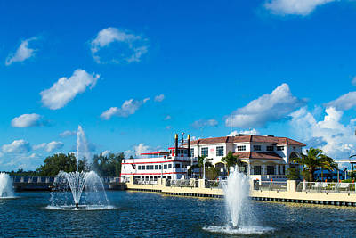 Photograph - Fountains In Ft. Myers by Shannon Harrington