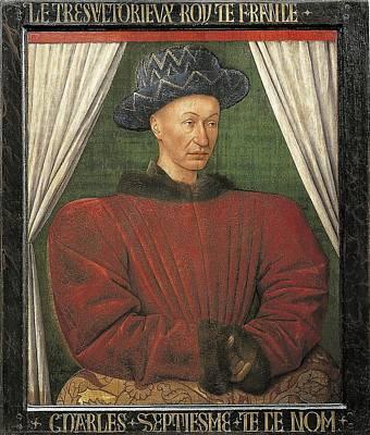 Fouquet, Jean 1420-1481. Portrait Art Print