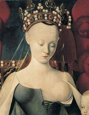 Fouquet, Jean 1420-1481. Virgin Art Print