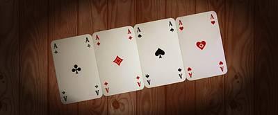 The Four Aces Art Print by Daniel Precht