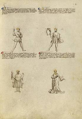 Allegorical Figure Painting - Four Allegorical Figures by Celestial Images