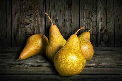 Photograph - Four Bartlett Pears by Randall Nyhof