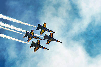 Four Blue Angels  Art Print
