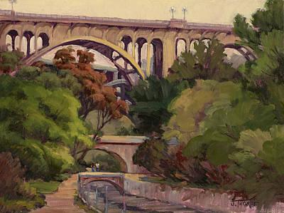 Four Bridges Art Print by Jane Thorpe