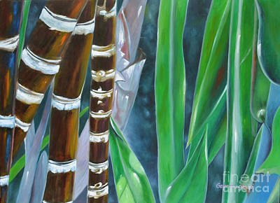 Four Canes For Green Art Print