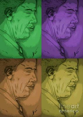 Four Colours Of Obama Art Print