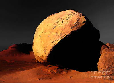 Digital Art - Four Corners Boulder D by Tim Richards