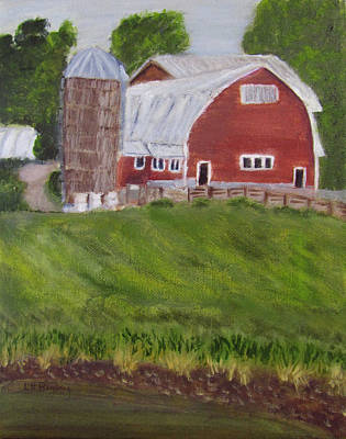 Painting - Four Corners Farm Vt by Linda Feinberg