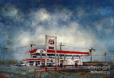 Four Corners Mart Art Print by Tim Oliver