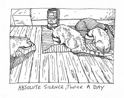 Four Feedings And A Dinner Bowl Original by Steve Hunter