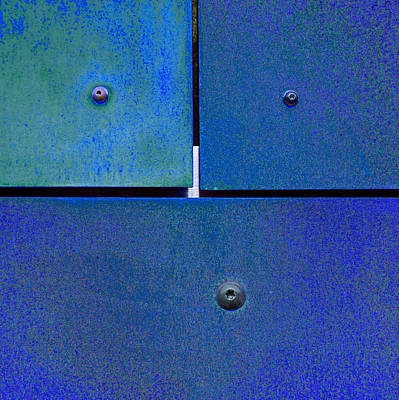 Rusted Photograph - Four Five Six - Colorful Rust - Blue by Menega Sabidussi