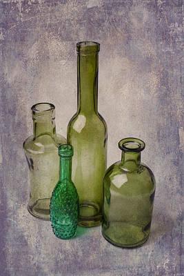 Four Green Bottles Art Print