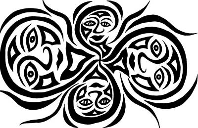 Drawing - Four Heads Are Better Than One by Beth Akerman