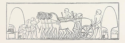 Four-horse Chariot Of A Private Person From Abd-el-kurnah Art Print by Litz Collection
