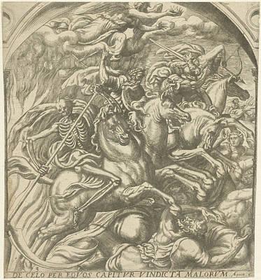 Four Horsemen Drawing - Four Horsemen Of The Apocalypse by Artokoloro