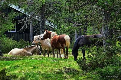 Photograph - Four Horses by Jean-Louis